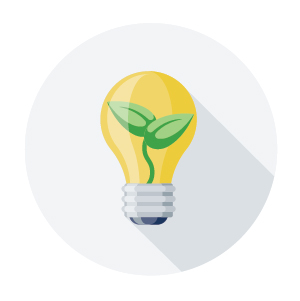 These icons can be used in a variety of biosolids communications materials and include icons for clean air, climate change, economic, energy, environment, farms, garden, innovation, and safety.