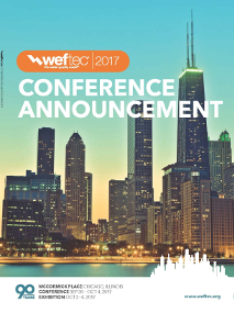 WEFTEC Conference Annoucement